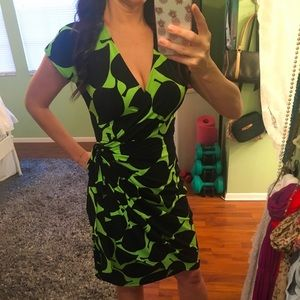 Super fun and bright Maggy London Wrap Dress!
